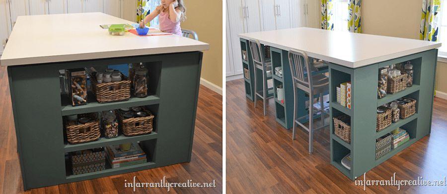 1562618322 687 20 diy craft tables and desks - 20 DIY Craft Tables and Desks