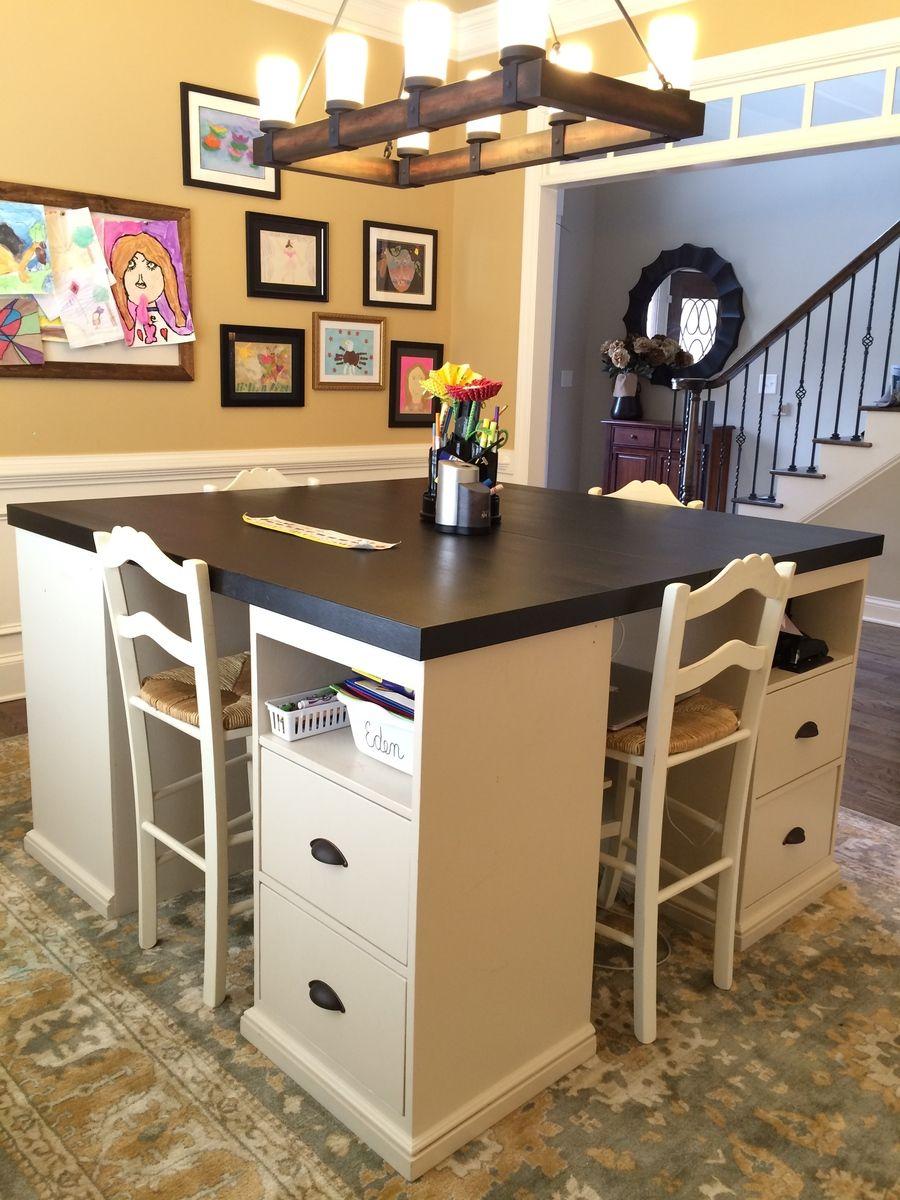 1562618324 915 20 diy craft tables and desks - 20 DIY Craft Tables and Desks