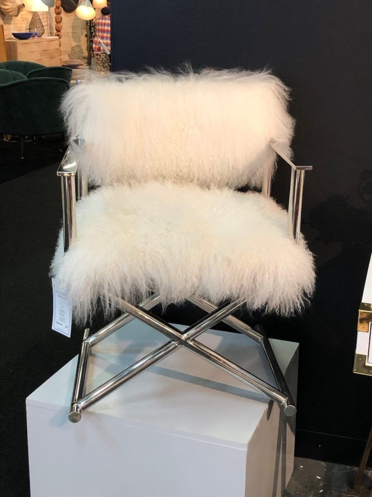 A fluffy white seat -- need we say more?