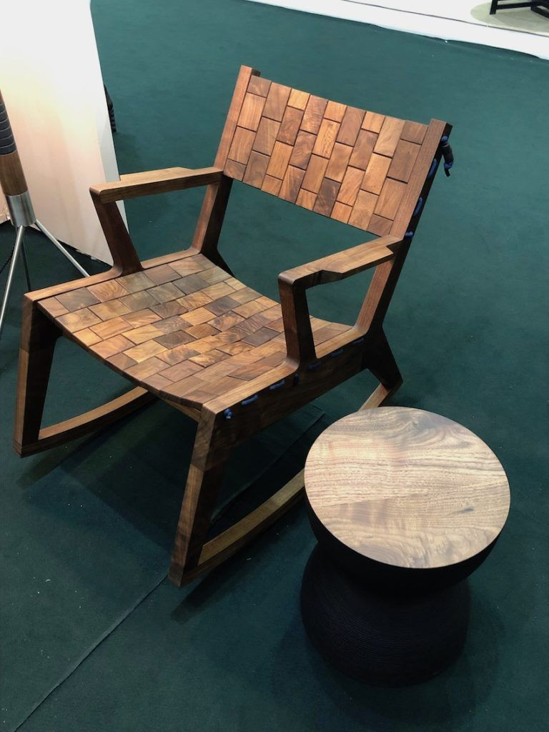 Wood takes on flexible characteristics in this chair.