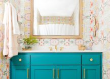 1563478667 227 25 cool bathroom color trends for summer and beyond - 25 Cool Bathroom Color Trends for Summer and Beyond
