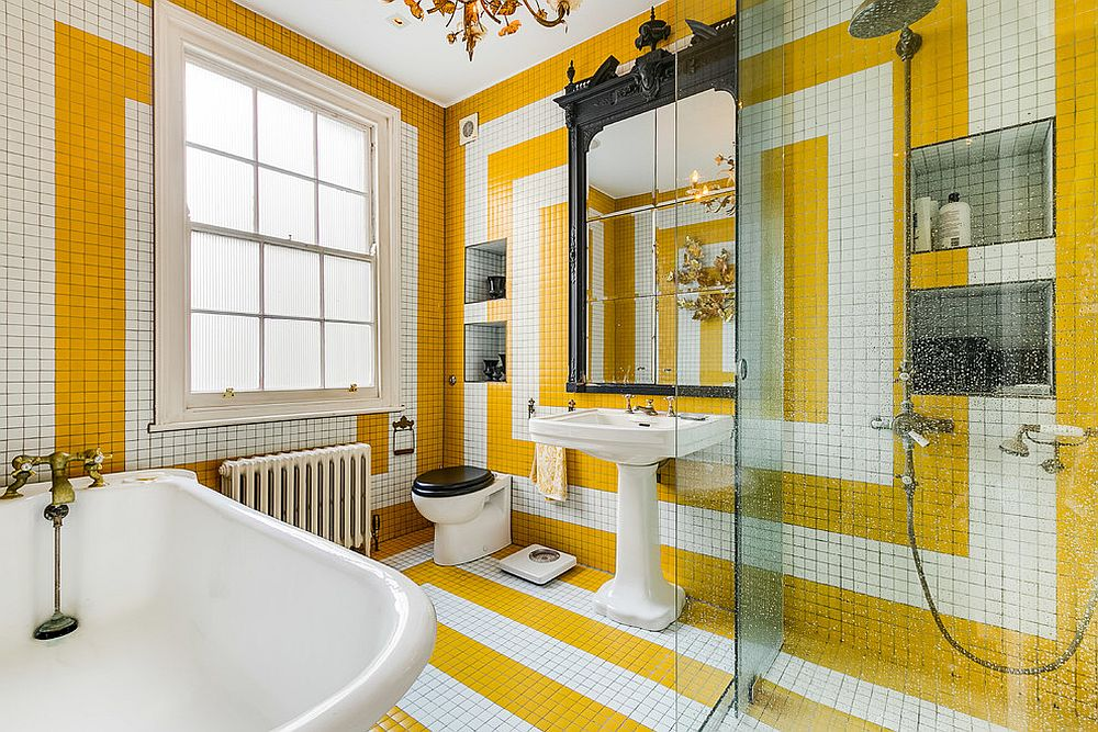 1563478668 151 25 cool bathroom color trends for summer and beyond - 25 Cool Bathroom Color Trends for Summer and Beyond