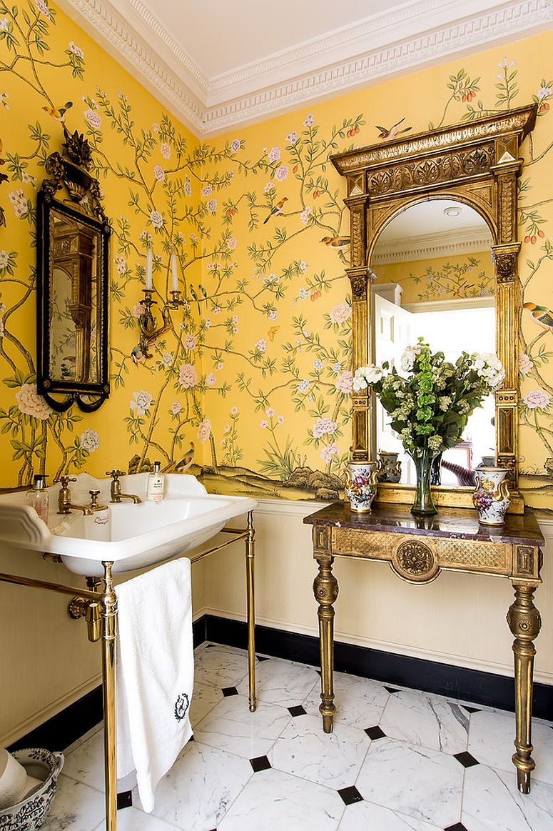 1563478668 271 25 cool bathroom color trends for summer and beyond - 25 Cool Bathroom Color Trends for Summer and Beyond