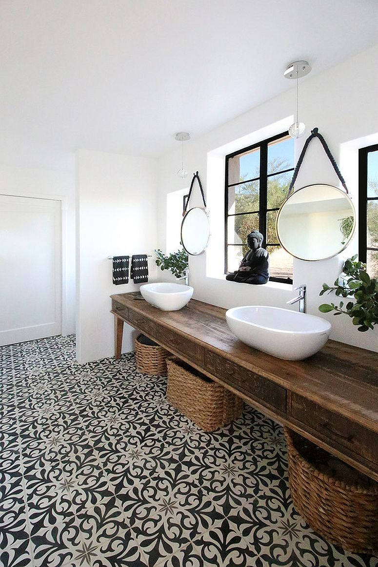 1563478668 420 25 cool bathroom color trends for summer and beyond - 25 Cool Bathroom Color Trends for Summer and Beyond