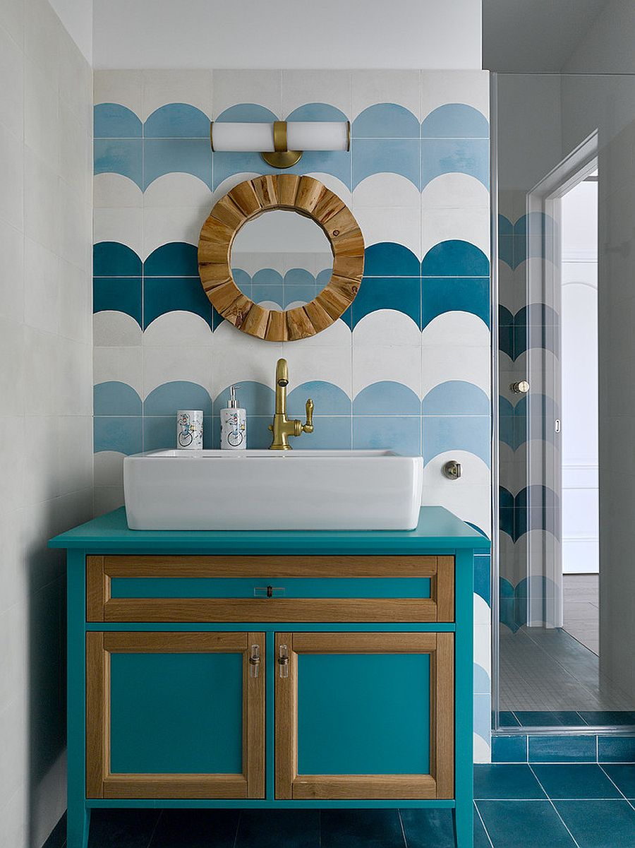 1563478668 519 25 cool bathroom color trends for summer and beyond - 25 Cool Bathroom Color Trends for Summer and Beyond