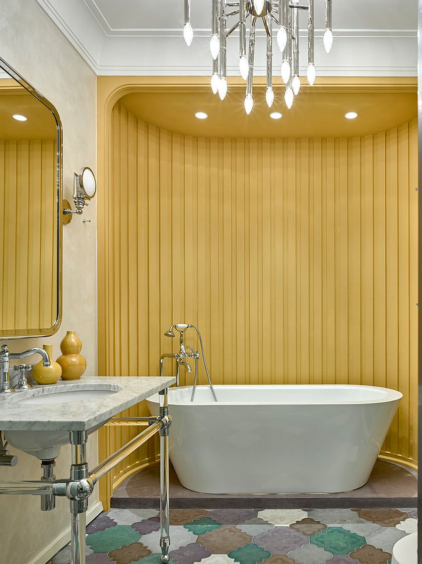 1563478668 647 25 cool bathroom color trends for summer and beyond - 25 Cool Bathroom Color Trends for Summer and Beyond