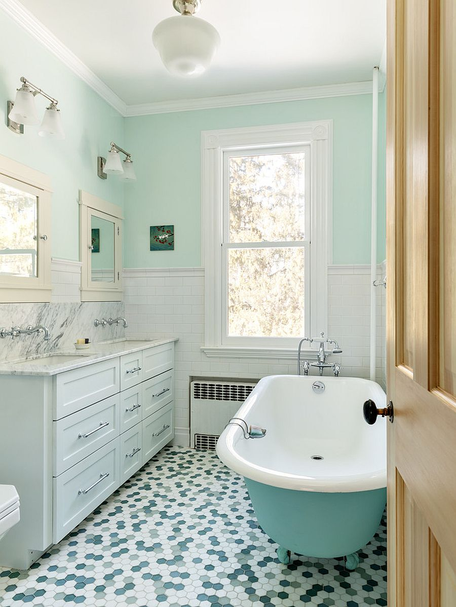 1563478668 805 25 cool bathroom color trends for summer and beyond - 25 Cool Bathroom Color Trends for Summer and Beyond