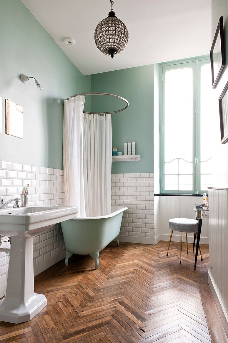 1563478668 850 25 cool bathroom color trends for summer and beyond - 25 Cool Bathroom Color Trends for Summer and Beyond