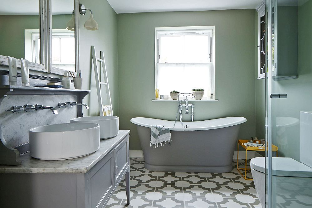1563478669 176 25 cool bathroom color trends for summer and beyond - 25 Cool Bathroom Color Trends for Summer and Beyond