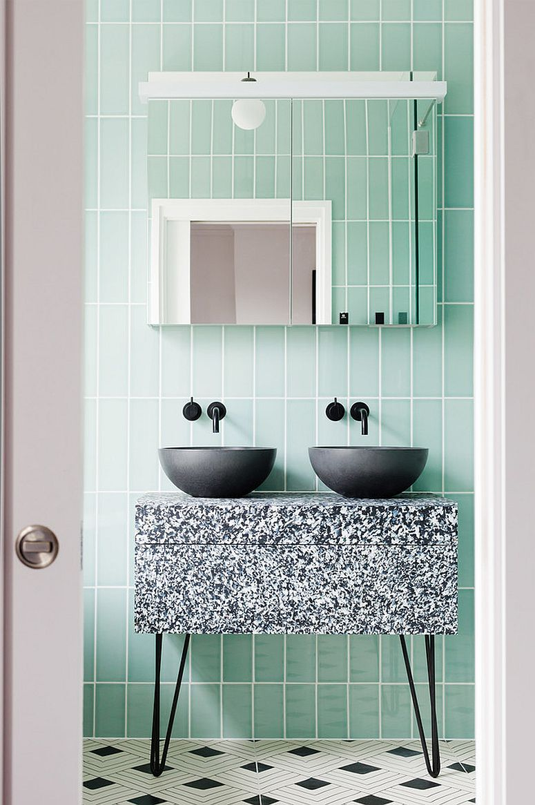 1563478669 23 25 cool bathroom color trends for summer and beyond - 25 Cool Bathroom Color Trends for Summer and Beyond