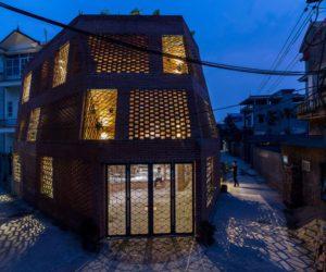 Hanoi perforated brick facade by Vietnamese studio H&P Architects - exterior