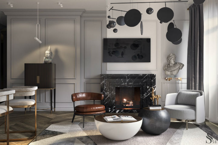 Ultra Glamorous and Sophisticated apartment interior design 3