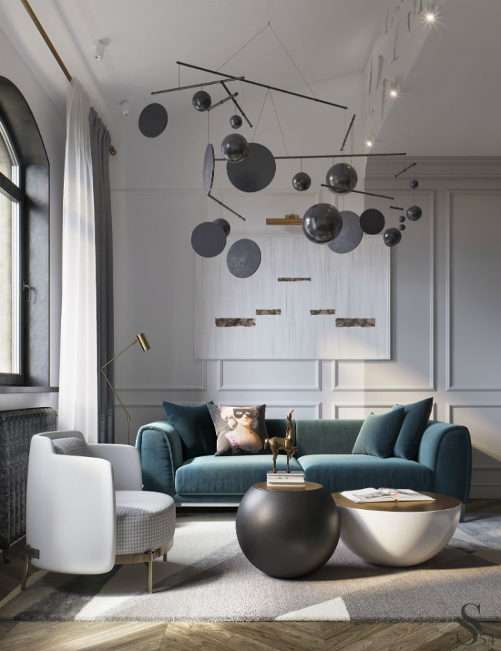 Ultra Glamorous and Sophisticated apartment interior design 2