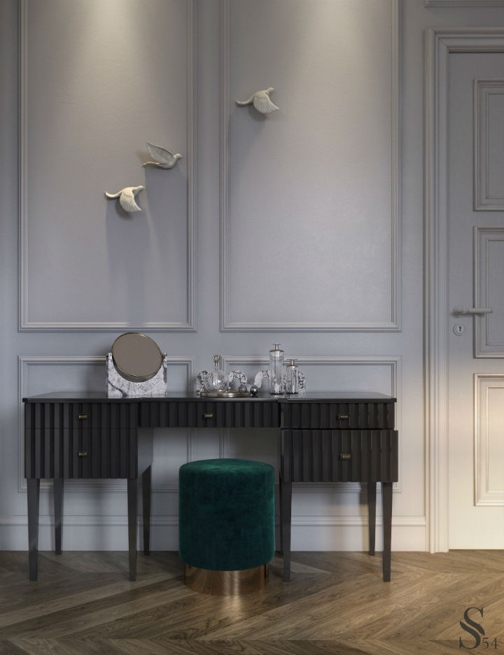 Ultra Glamorous and Sophisticated apartment interior design 6