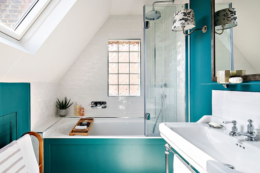 25 cool bathroom color trends for summer and beyond - 25 Cool Bathroom Color Trends for Summer and Beyond