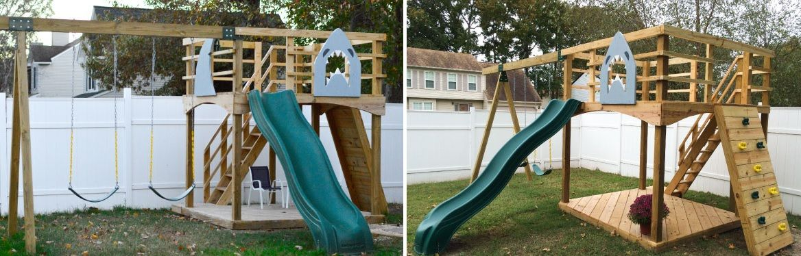 how to build a great diy swing set for a perfect summer time - How To Build A Great DIY Swing Set For A Perfect Summer Time