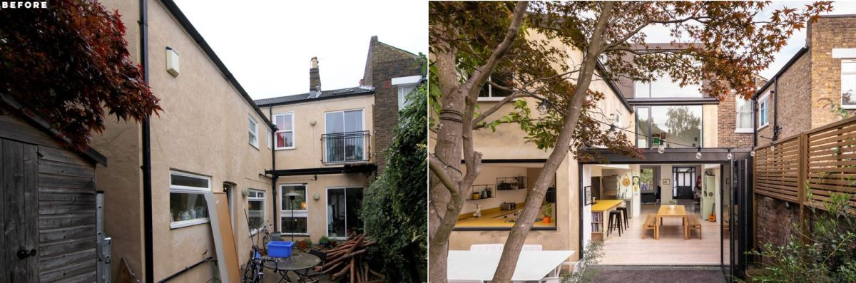 london house extension with skylights and huge windows - London House Extension With Skylights And Huge Windows