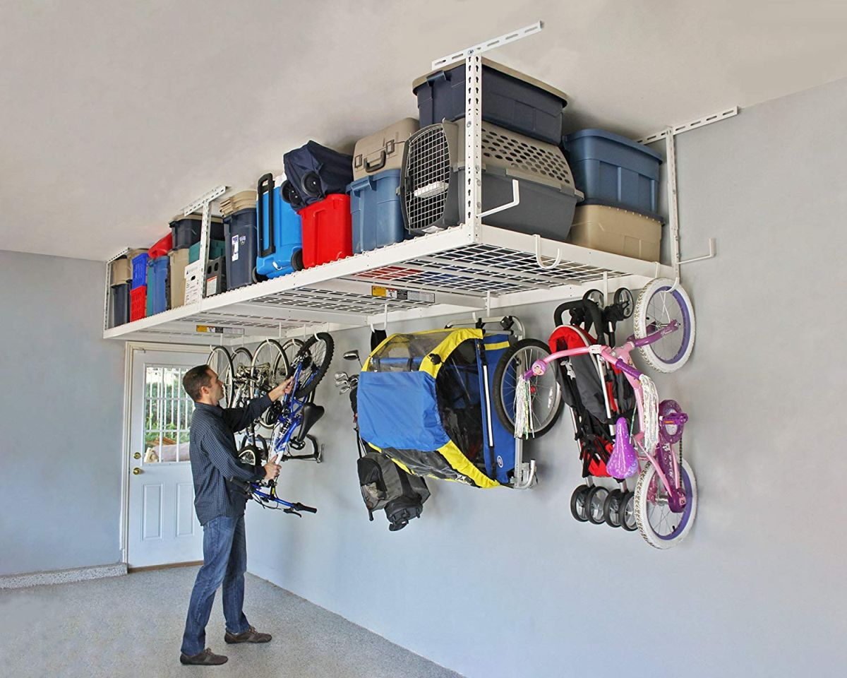 10 great overhead storage ideas for the garage - 10 Great Overhead Storage Ideas For The Garage