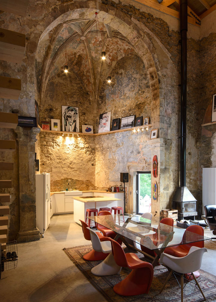Historic Stone Church Turned Into a Modern Home 4