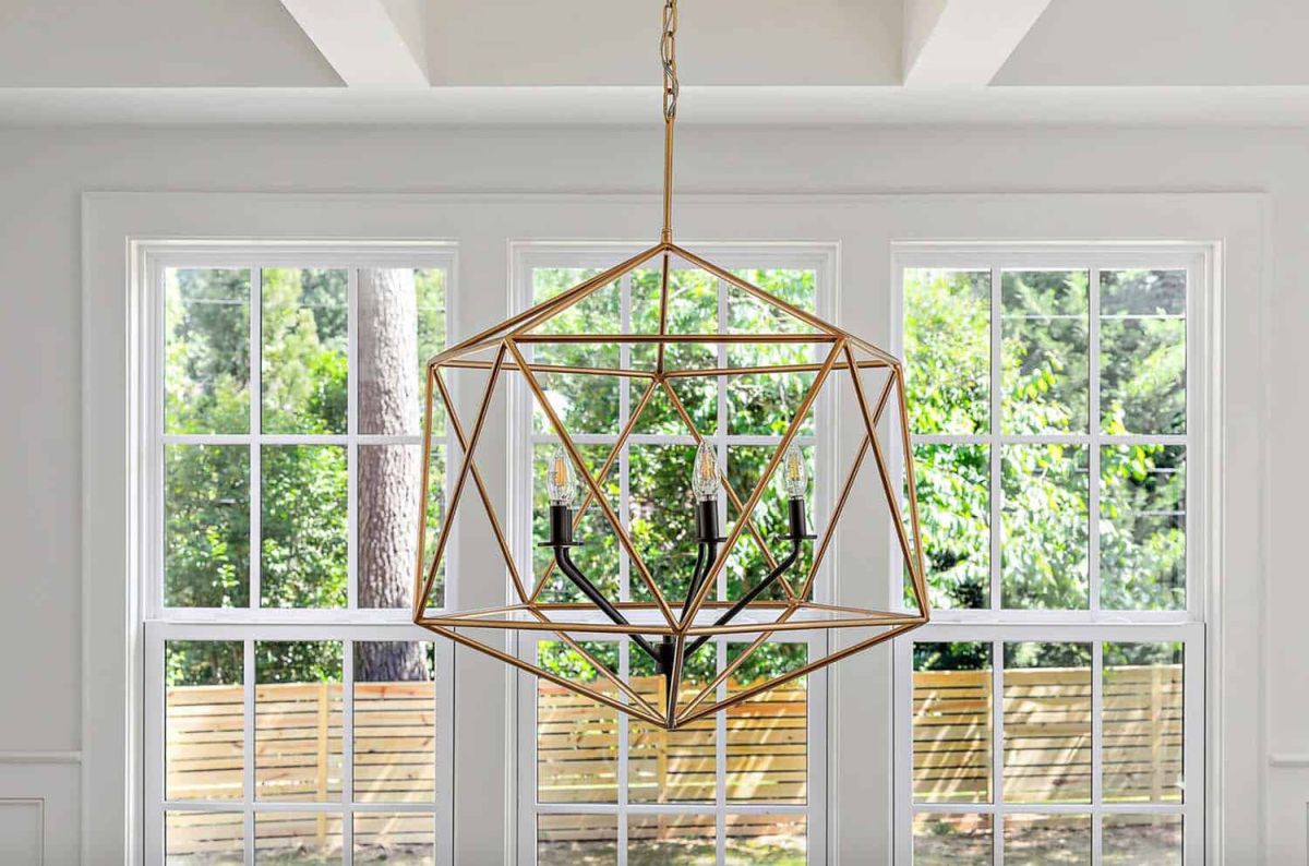 The lighting fixtures are sleek and stylish and they double as subtle focal points in the decor