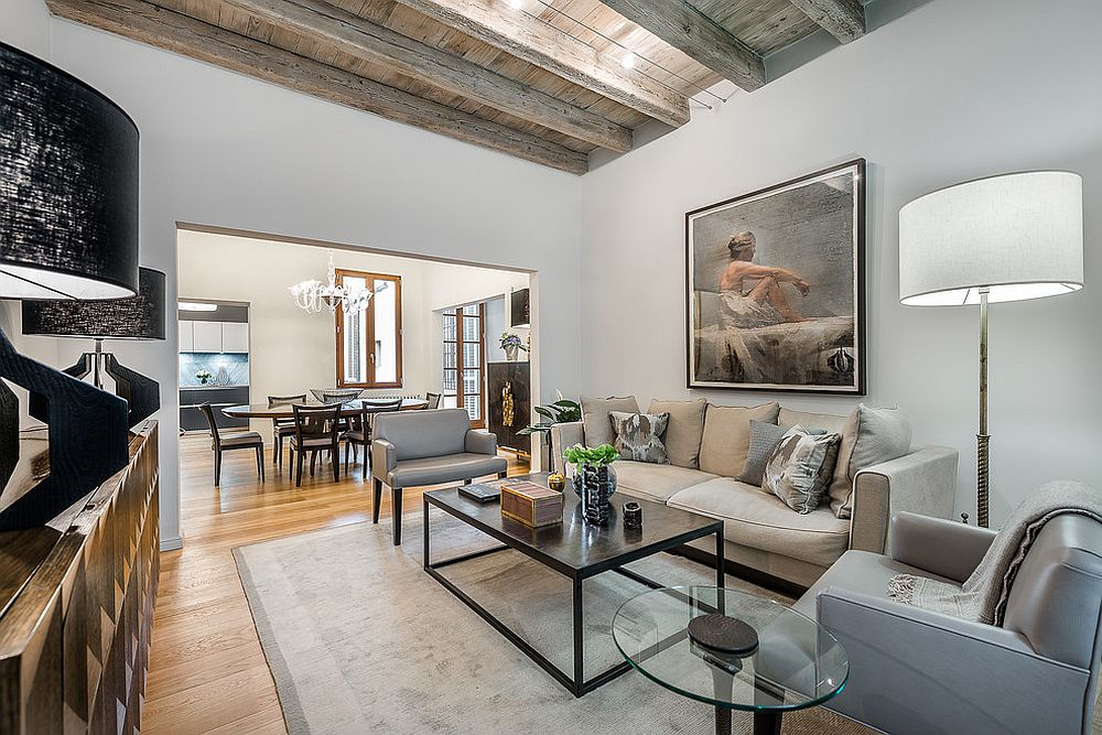 1565163362 118 spectacular and cozy living rooms with ceiling beams 25 trendy ideas inspirations - Spectacular and Cozy Living Rooms with Ceiling Beams: 25 Trendy Ideas, Inspirations