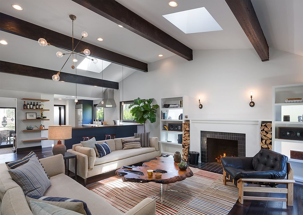 1565163362 78 spectacular and cozy living rooms with ceiling beams 25 trendy ideas inspirations - Spectacular and Cozy Living Rooms with Ceiling Beams: 25 Trendy Ideas, Inspirations