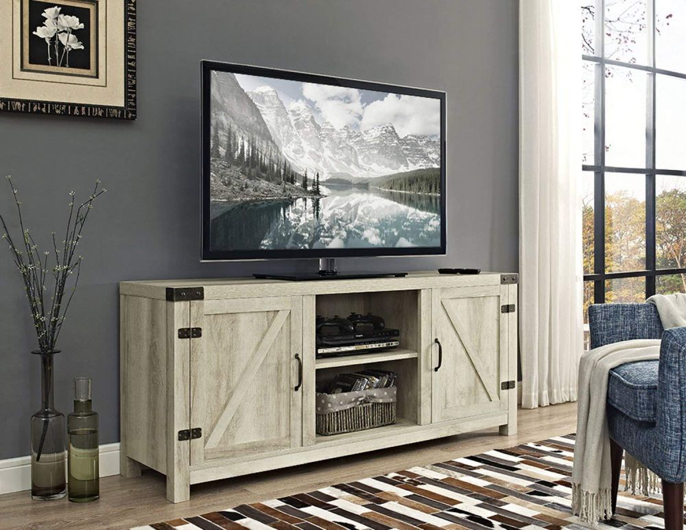 1565261387 432 farmhouse tv stand ideas with extra charming designs - Farmhouse TV Stand Ideas With Extra Charming Designs