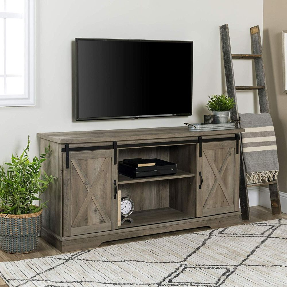 1565261388 165 farmhouse tv stand ideas with extra charming designs - Farmhouse TV Stand Ideas With Extra Charming Designs