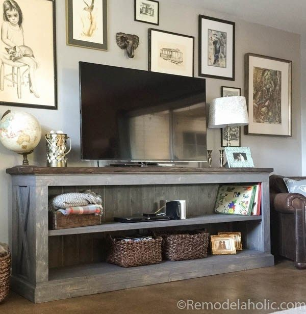 1565261388 18 farmhouse tv stand ideas with extra charming designs - Farmhouse TV Stand Ideas With Extra Charming Designs