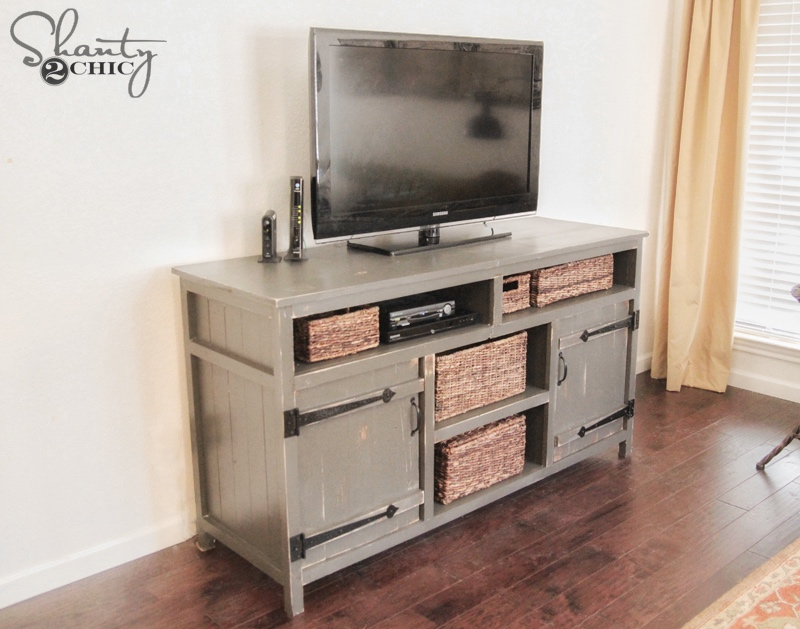1565261388 505 farmhouse tv stand ideas with extra charming designs - Farmhouse TV Stand Ideas With Extra Charming Designs