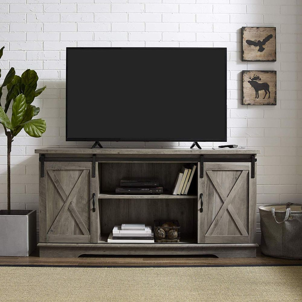 1565261388 541 farmhouse tv stand ideas with extra charming designs - Farmhouse TV Stand Ideas With Extra Charming Designs
