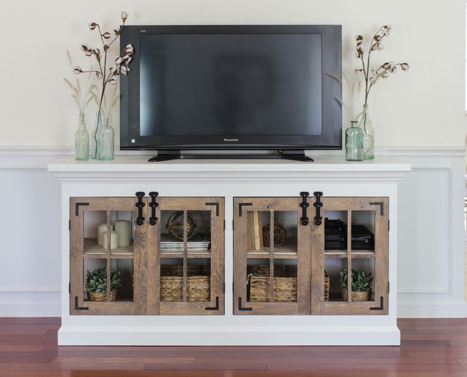 1565261388 625 farmhouse tv stand ideas with extra charming designs - Farmhouse TV Stand Ideas With Extra Charming Designs