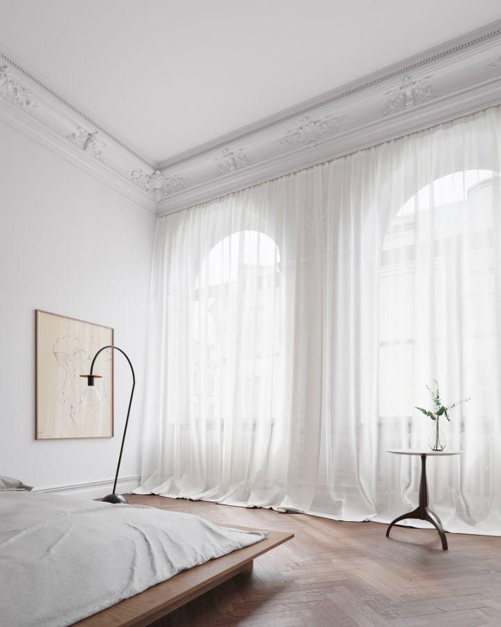 Scandinavian Contemporary interior design To a Classic Space 8