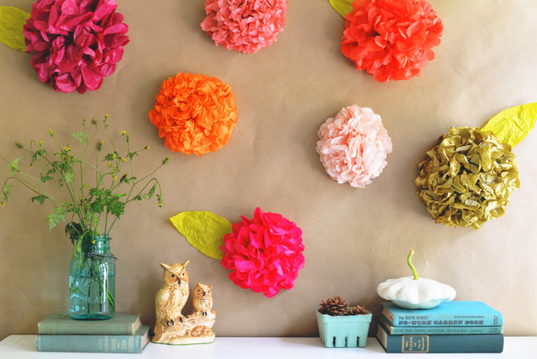diy paper flowers and how to decorate your home with them - DIY Paper Flowers and How To Decorate Your Home With Them