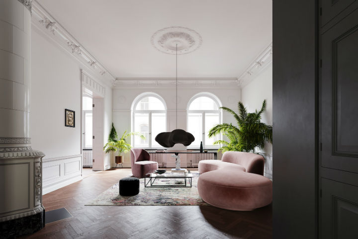 Unique Contemporary To a Classic Space in Stockholm