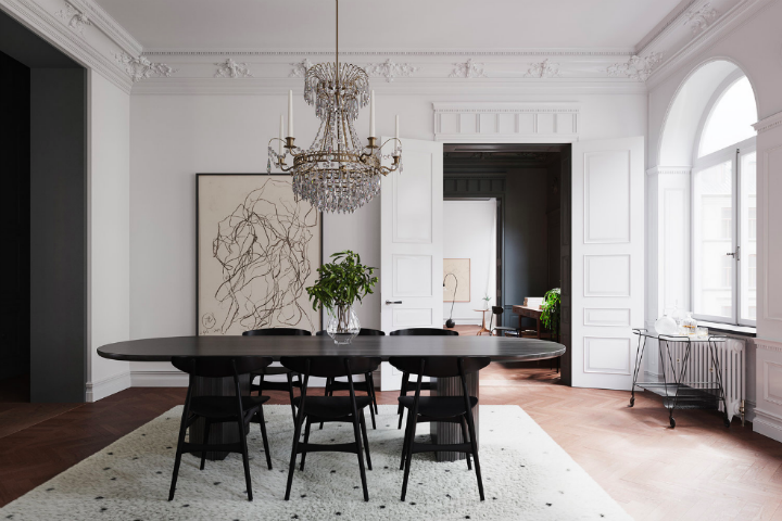 Scandinavian Contemporary interior design To a Classic Space 9