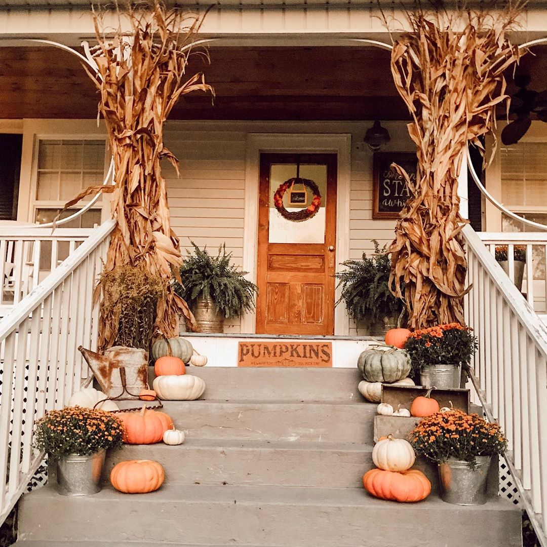 1569404384 74 front porch decor ideas to welcome fall with - Front Porch Decor Ideas To Welcome Fall With