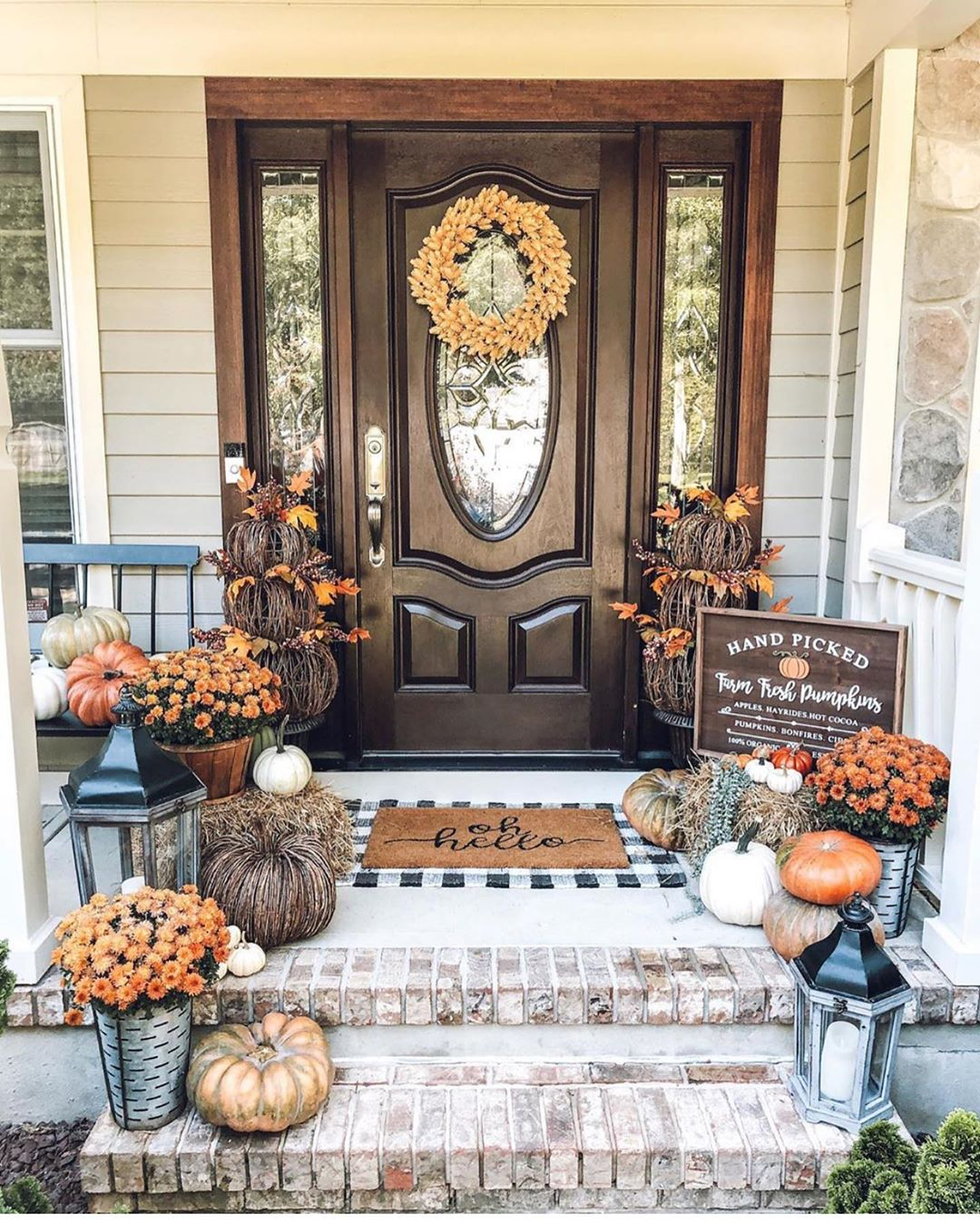 1569404385 280 front porch decor ideas to welcome fall with - Front Porch Decor Ideas To Welcome Fall With