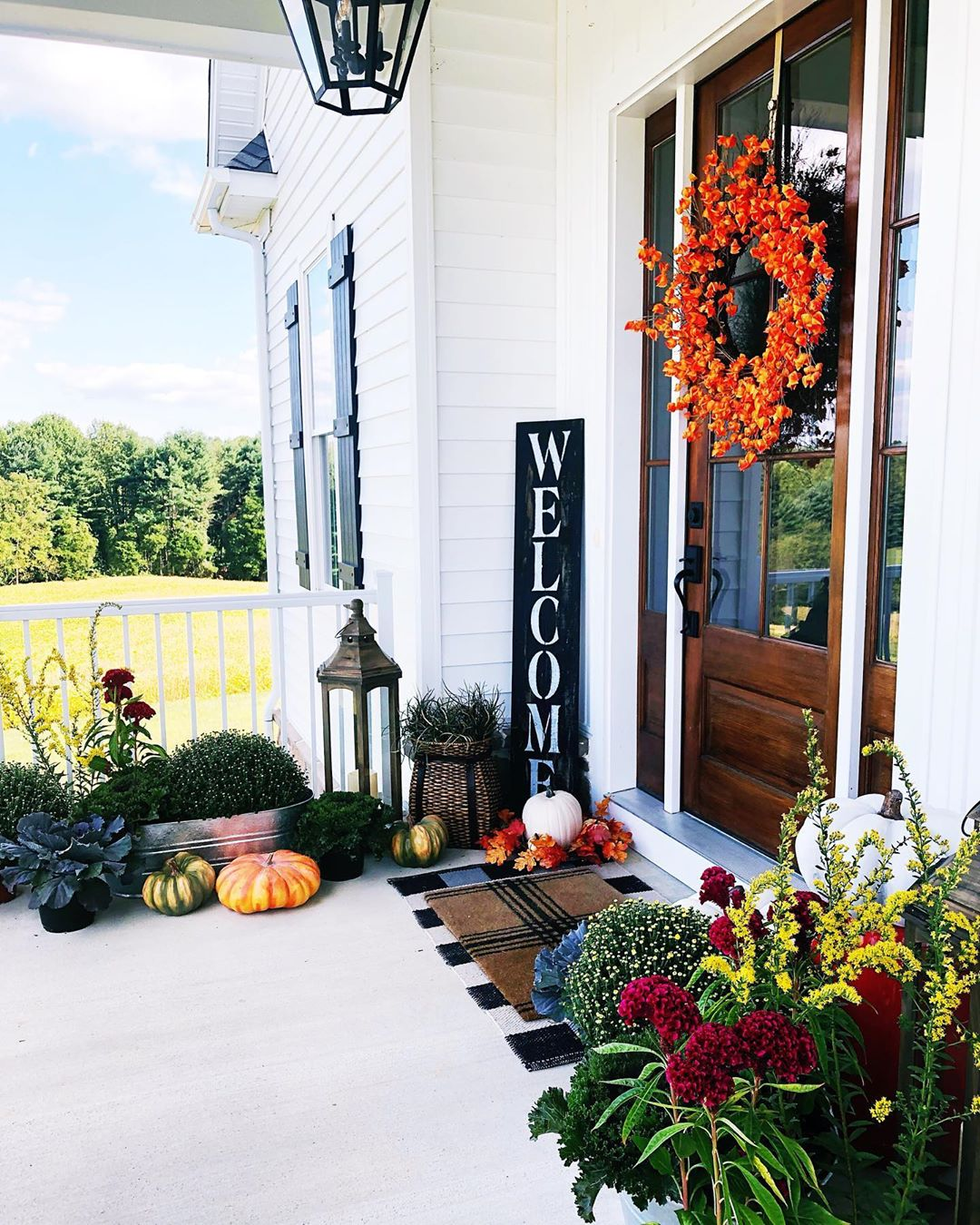 1569404388 39 front porch decor ideas to welcome fall with - Front Porch Decor Ideas To Welcome Fall With