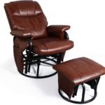 Faux Leather Glider with Ottoman