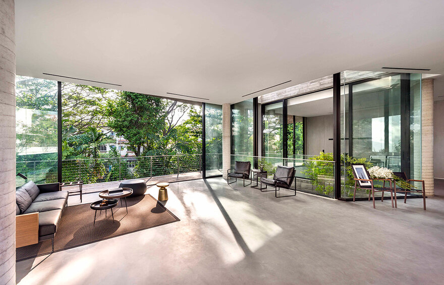 1569879310 112 a stylish glass and concrete house shielded by lush greenery - A Stylish Glass And Concrete House Shielded By Lush Greenery