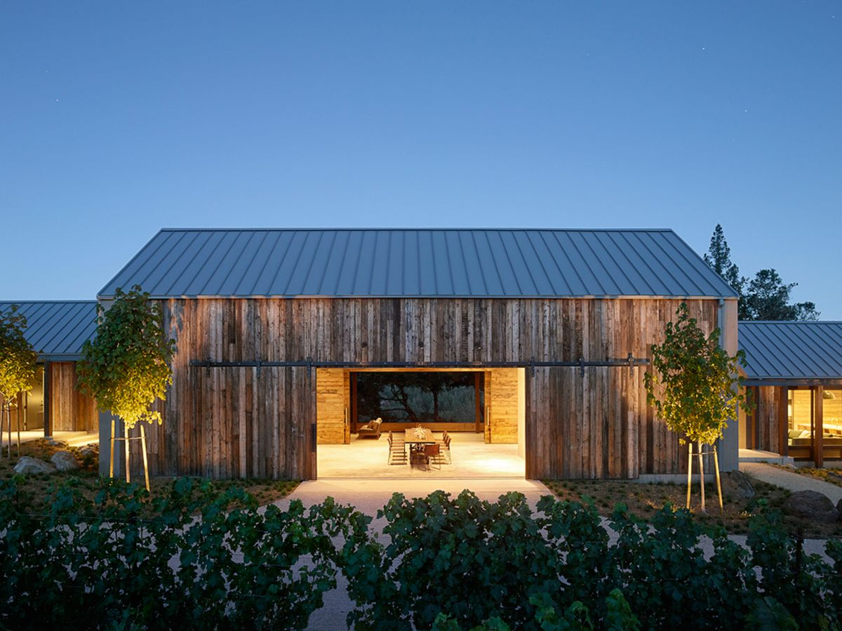 Field Architecture gabled house overlooking California vineyard design - The Unique Bond Between Wine And Architecture – Amazing Winery Designs