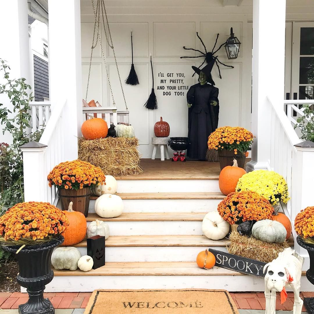 front porch decor ideas to welcome fall with - Front Porch Decor Ideas To Welcome Fall With