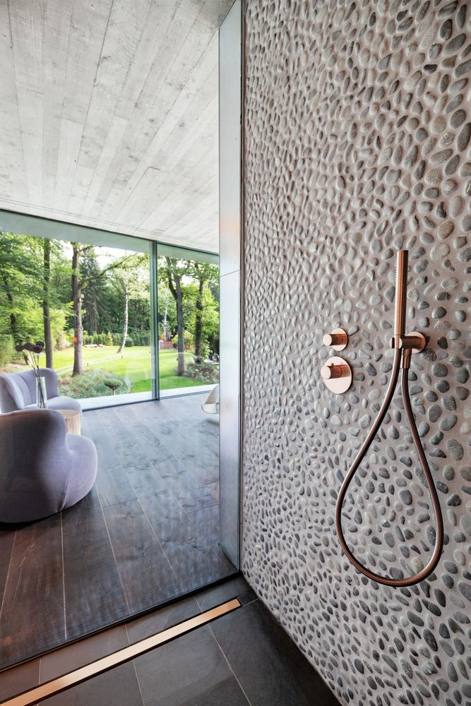 Both the interior and the exterior of the house are designed to complement the landscape
