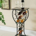 Metal with Marble Finish Top Wine Storage Organizer