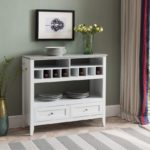 Buffet Display Console Table with Wine Storage