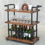 Wine Rack Carts on Wheels with Storage