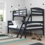 Solid Wood Bunk Beds with Ladder and Guard Rail