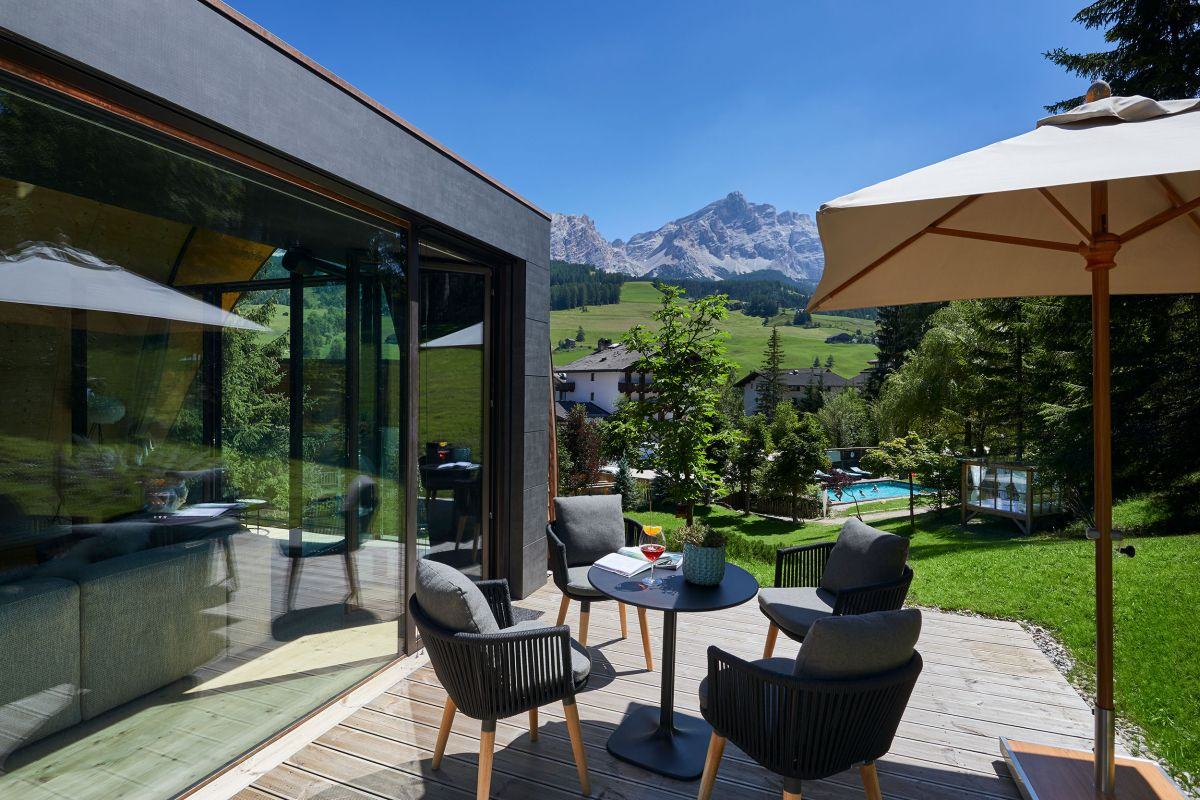 The mountain views are breathtaking and best enjoyed from the outdoor deck