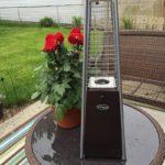 Portable Table Top Pyramid Glass Tube Patio Heater